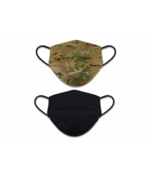 Mascarilla reversible camuflaje-negro