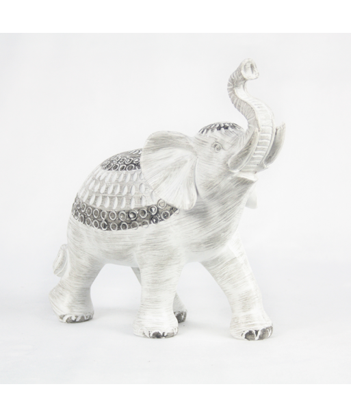 Elefante de la suerte blanco con labrado