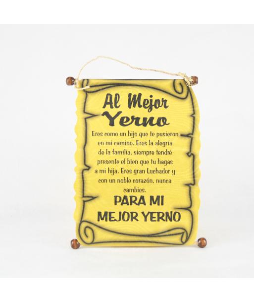 Diploma dedicatoria Yerno