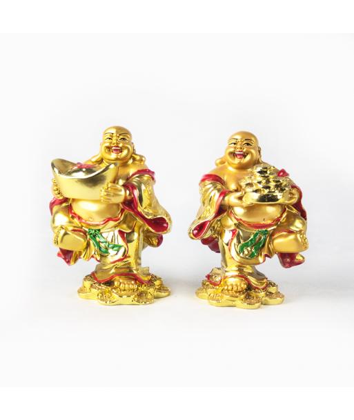 Buda dorado portando objeto (unidad)